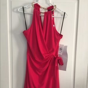 Bright pink cocktail dress